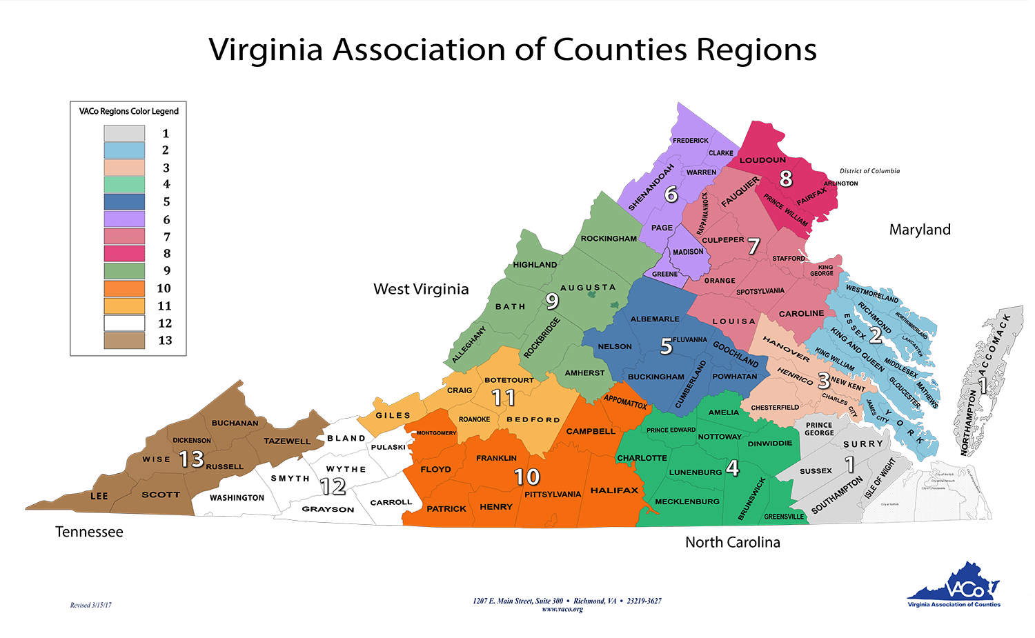 County Websites Links Virginia Association Of Counties - Counties of va map