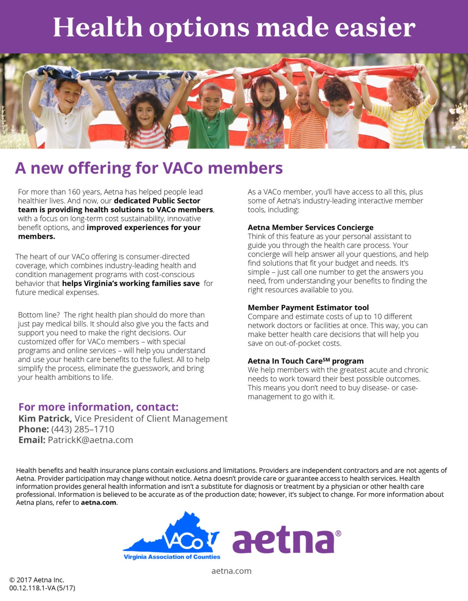 A new offering for VACo Members from Aetna - Virginia