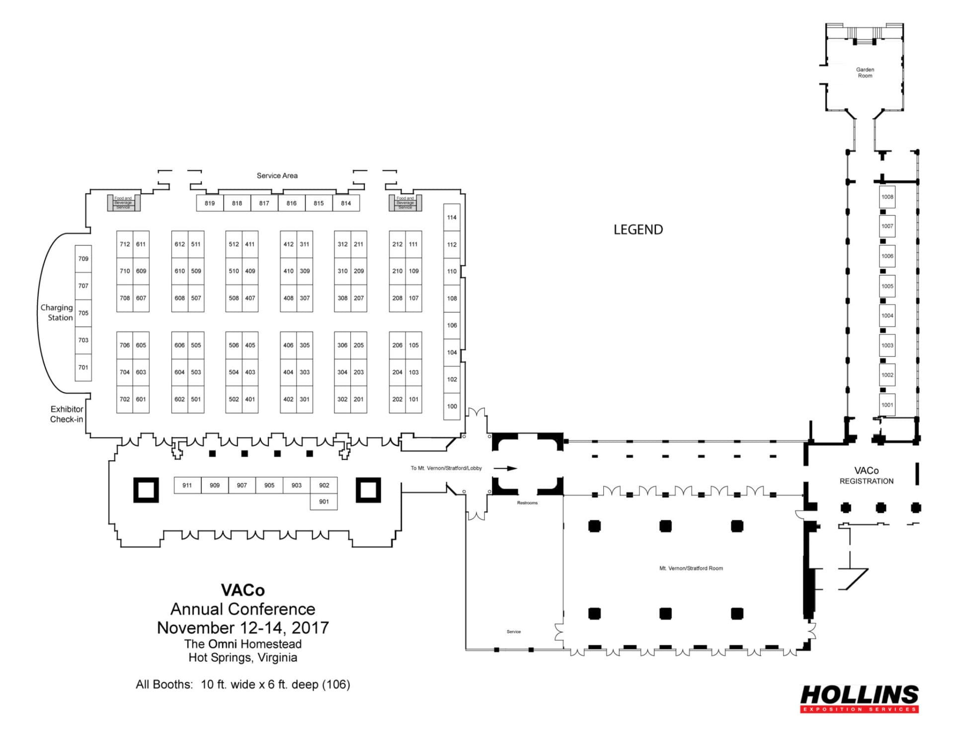 2017 Exhibit Hall – Interactive Map